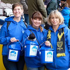 WAY members collecting donations